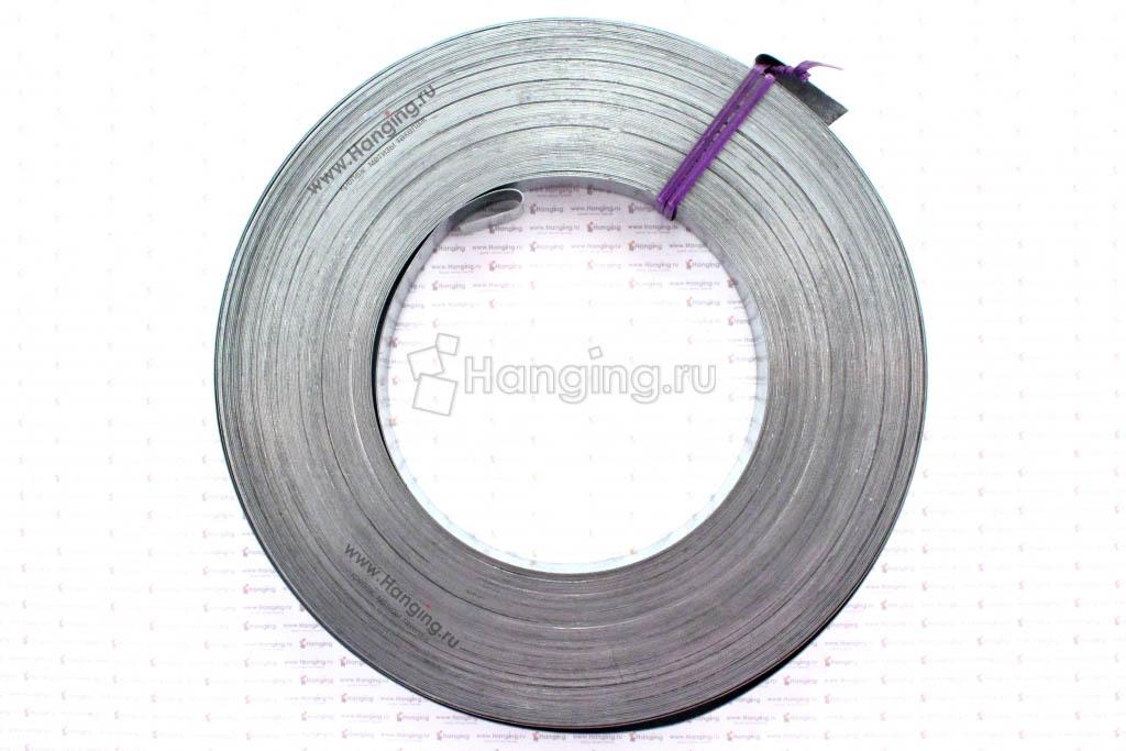 Рулон упаковочной стальной оцинкованной ленты 50 метров 20х0,5