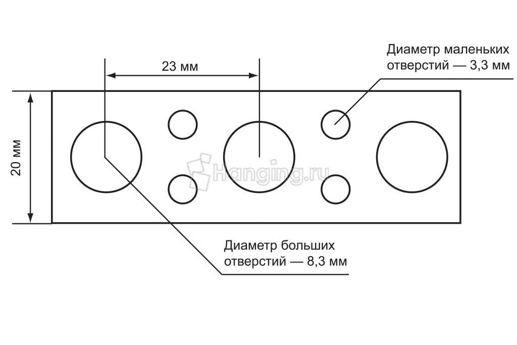 Разметка оцинкованной перфорированной ленты шириной 20 миллиметров