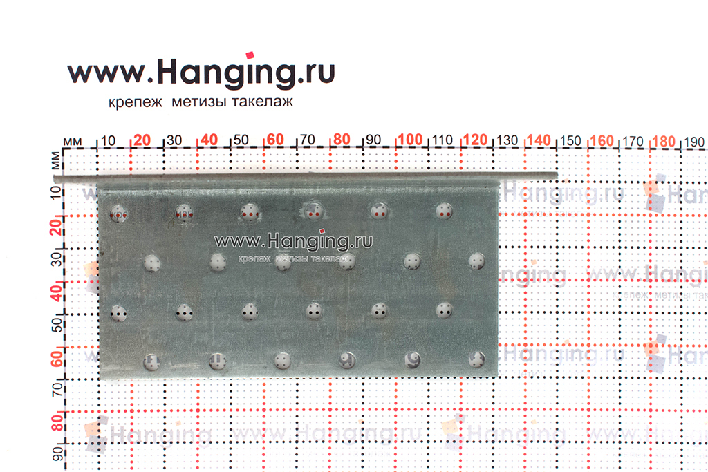 Размеры отверстий крепежного уголка 60х60х120х2