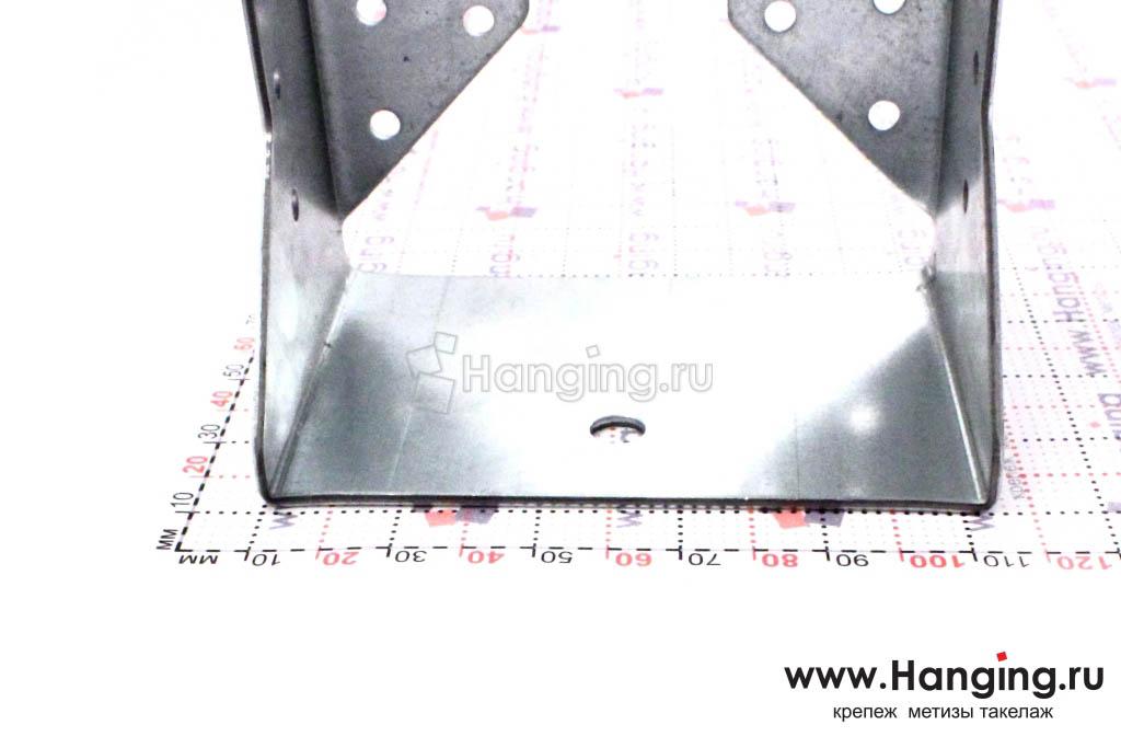 Опора держатель для бруса закрытого типа, размер основания 100х105