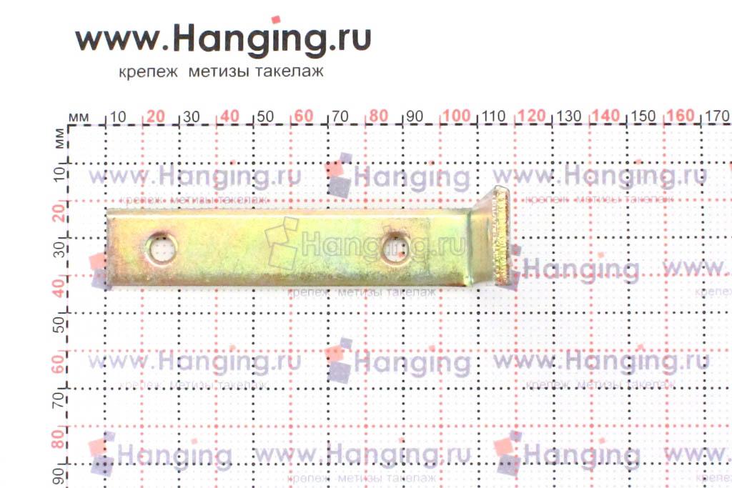 Размеры отверстий уголка со стороной 100 мм шириной 20 мм толщиной 4 мм
