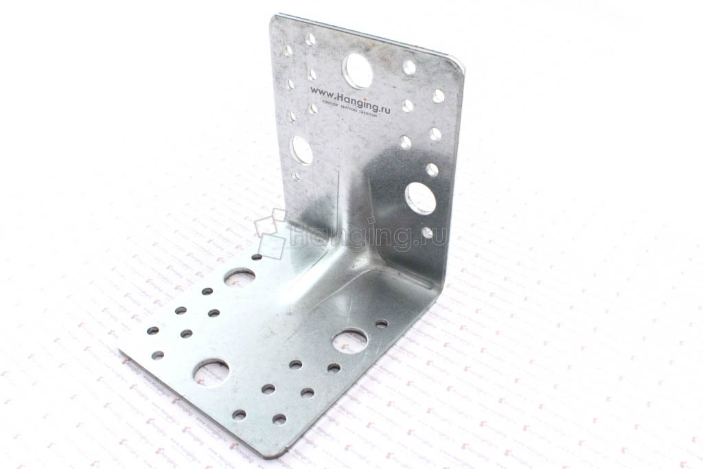 Уголок монтажный с ребром жесткости 105*105*90*3 мм