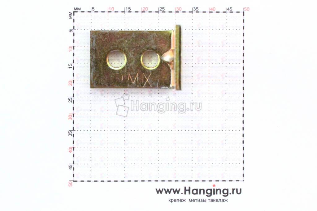 Размеры отверстий уголка 25*25*17*2 мм