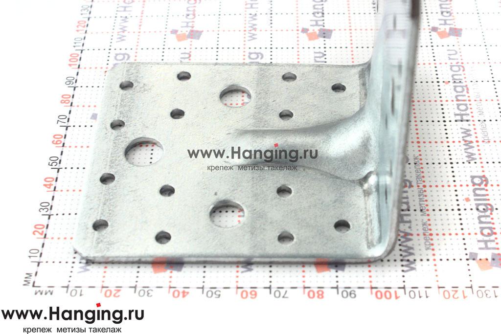 Размеры сторон уголка крепежного усиленного 100х100х90