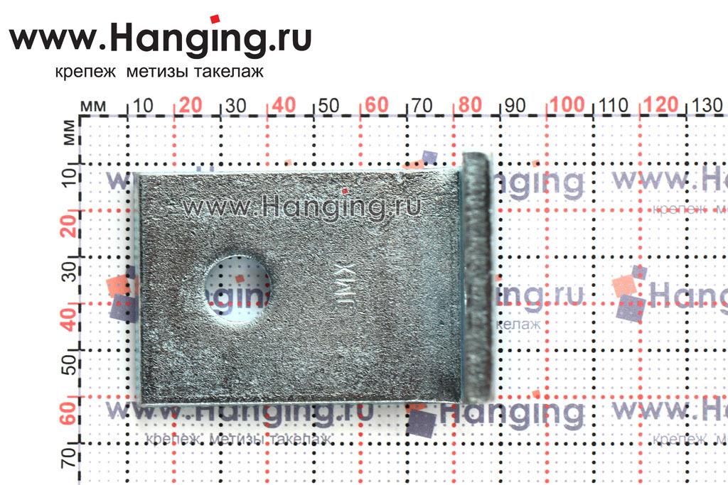 Размер отверстия уголка для бетона 75х75х50х6