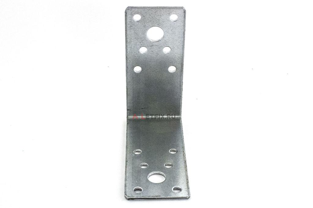 Уголок крепёжный перфорированный 90х90х40 из оцинкованной стали 2 мм