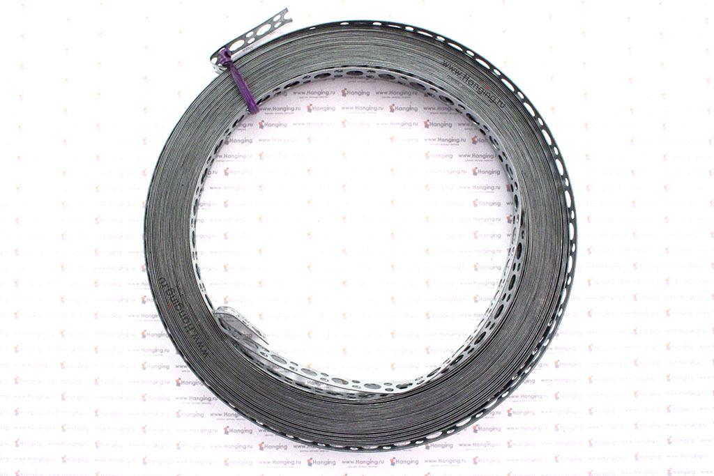 Монтажная перфорированная лента 12*0,5 мм с прямой кромкой