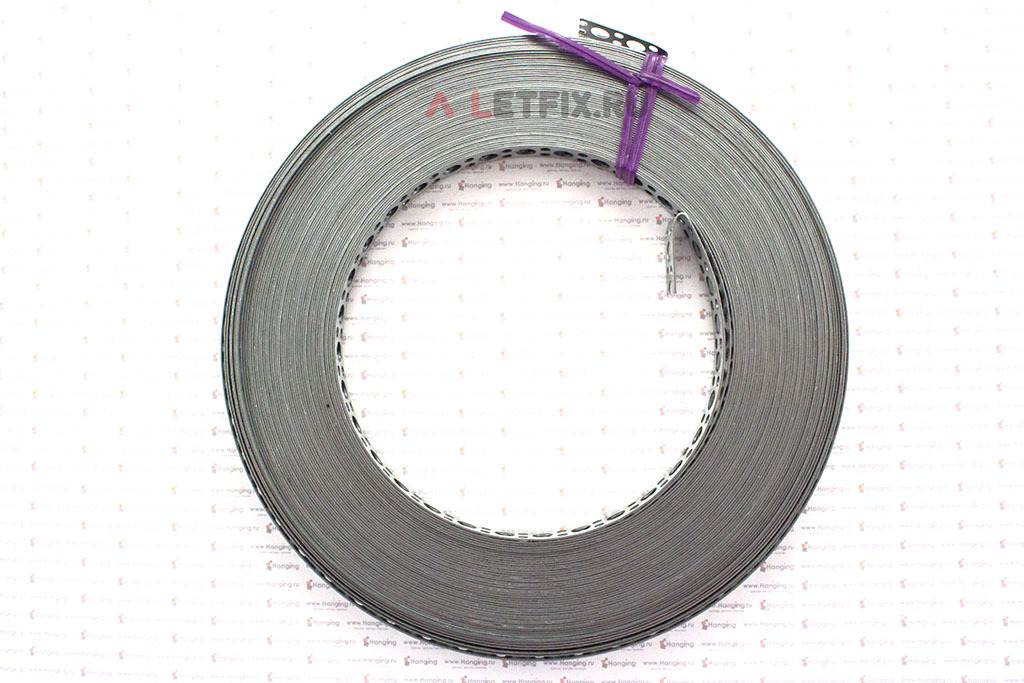 Монтажная перфорированная лента 12*0,7 мм с прямой кромкой