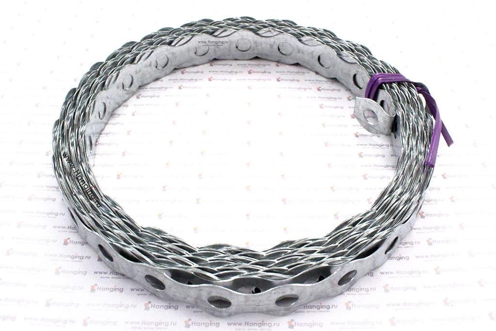 Лента стальная перфорированная оцинкованная волнистая 17х0,5 мм