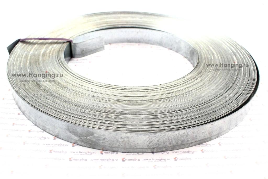 Лента стальная упаковочная 17х0,5 оцинкованная