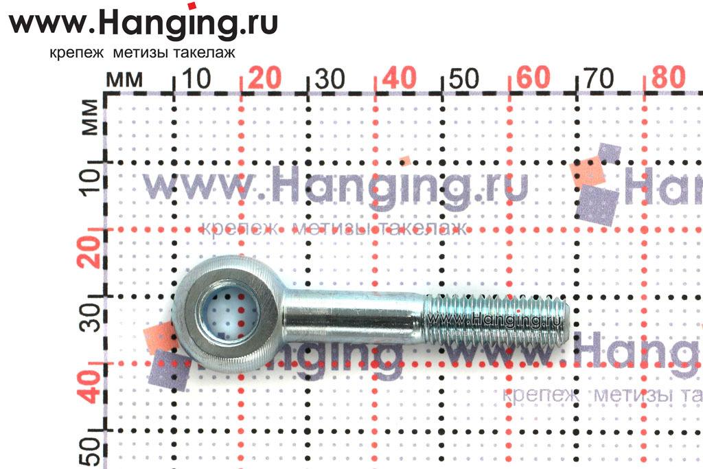 Размеры оцинкованного откидного болта 8х50 ГОСТ 3033-79 и DIN 444