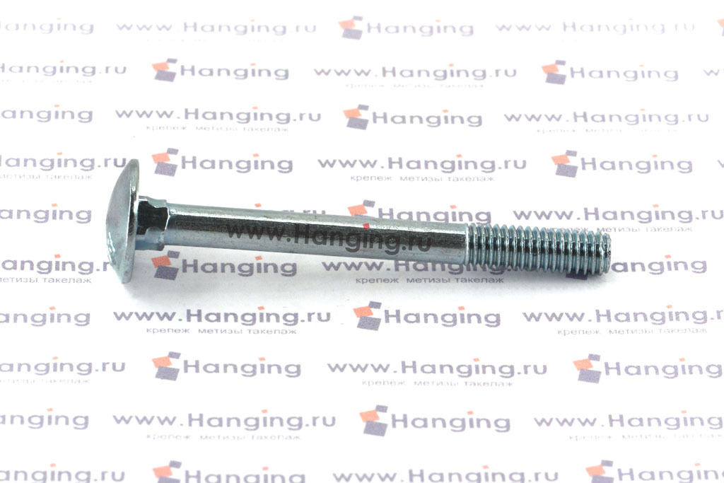 Болт М6х60 мебельный 4.6 оцинкованный DIN 603