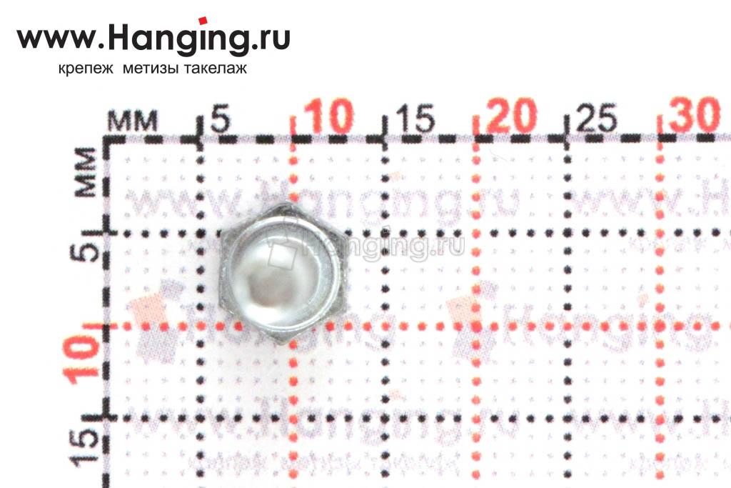 Размеры головки и ключа под болт DIN 933 цинк 8.8 4*20