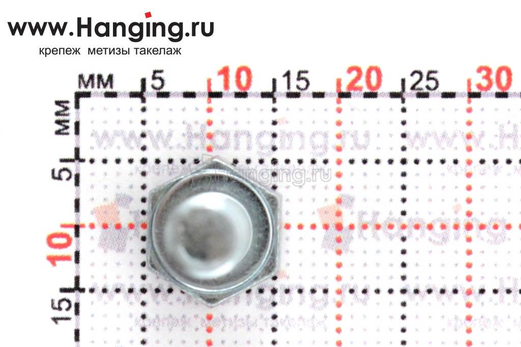 Размеры головки и ключа под болт DIN 933 цинк 8.8 6*12
