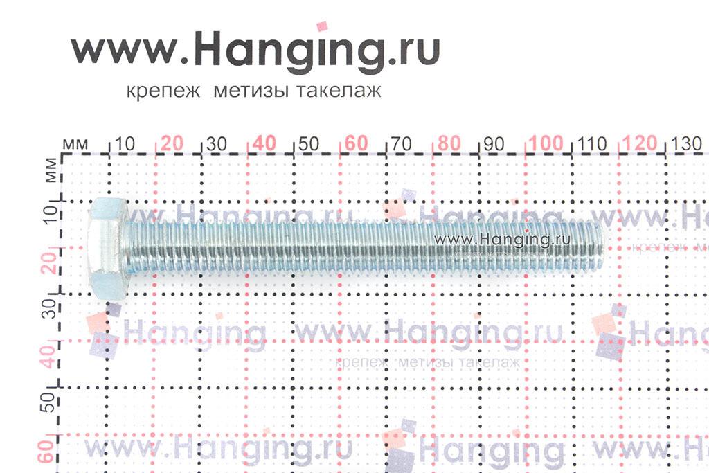 Размеры оцинкованного болт 12х100 с полной резьбой 8.8