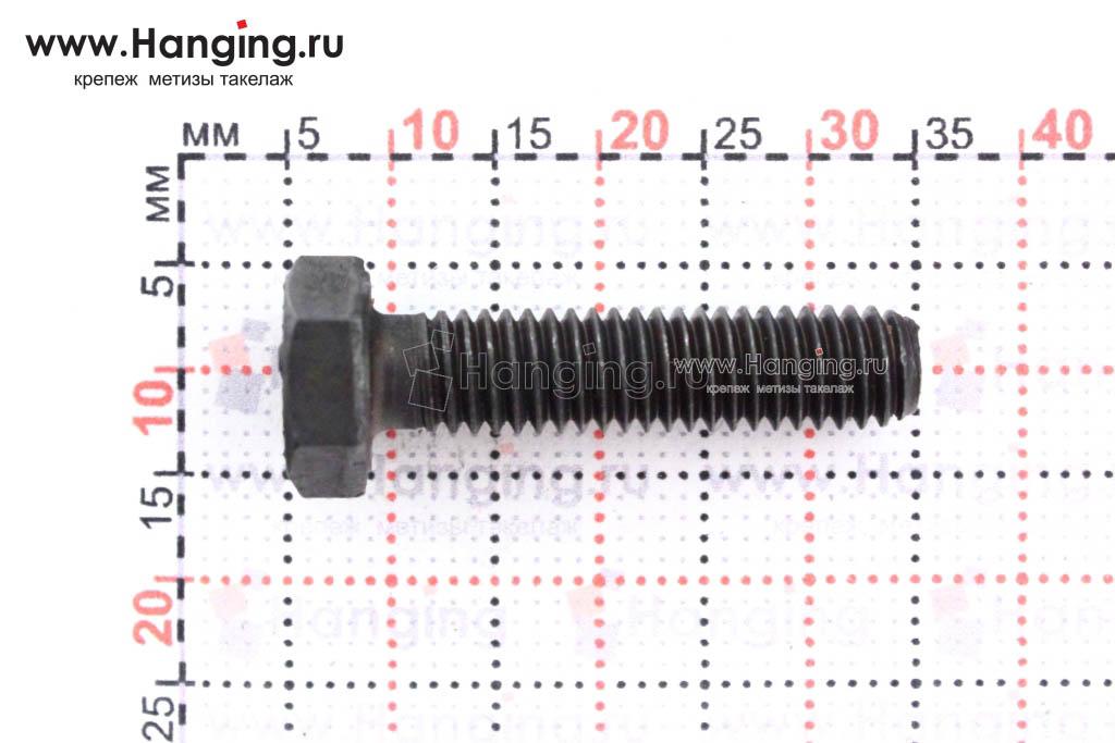 Размеры болта М6х25 кл. пр. 12.9