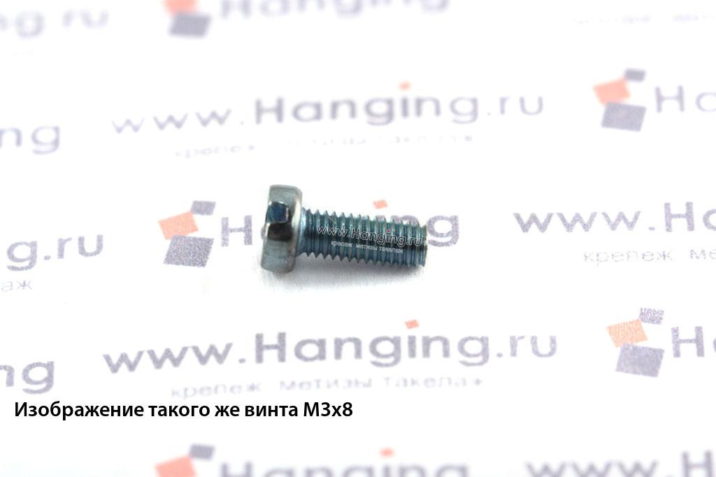 Оцинкованный винт DIN 84 М3х14 класса прочности 4.8 с цилиндрической головкой и прямым шлицем