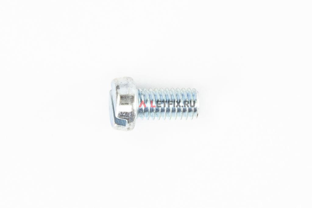 Оцинкованный винт DIN 84 М6х10 класса прочности 4.8 с цилиндрической головкой и прямым шлицем