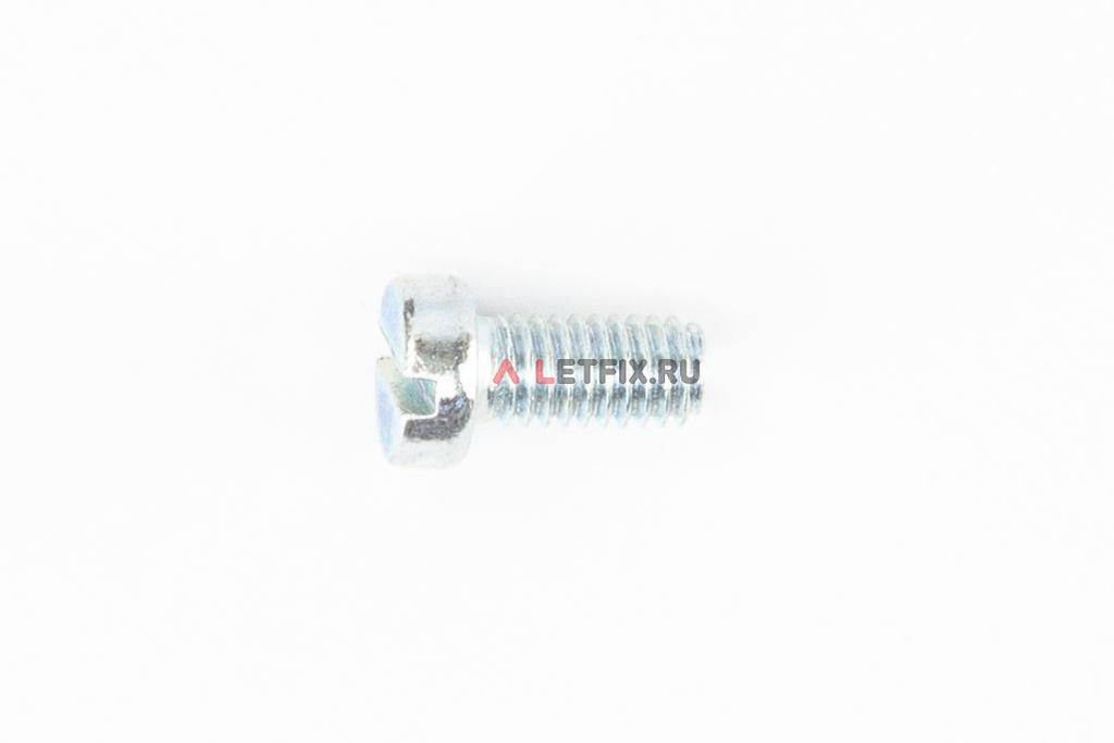 Оцинкованный винт DIN 84 М6х12 класса прочности 4.8 с цилиндрической головкой и прямым шлицем