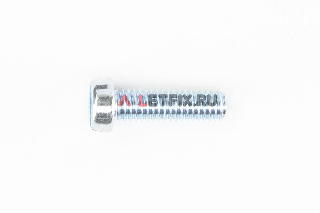 Оцинкованный винт DIN 84 М6х20 класса прочности 4.8 с цилиндрической головкой и прямым шлицем
