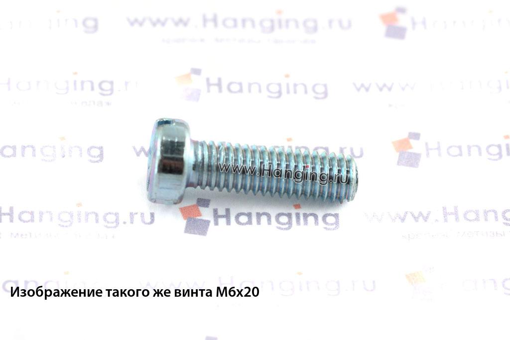Оцинкованный винт DIN 84 М6х22 класса прочности 4.8 с цилиндрической головкой и прямым шлицем