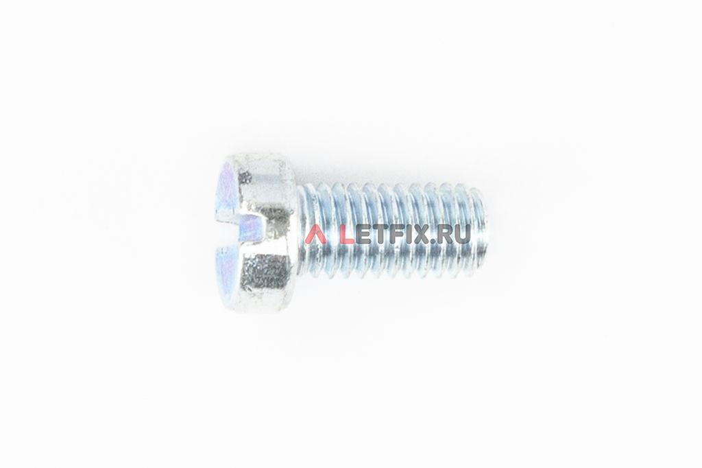 Оцинкованный винт DIN 84 М8х16 класса прочности 4.8 с цилиндрической головкой и прямым шлицем