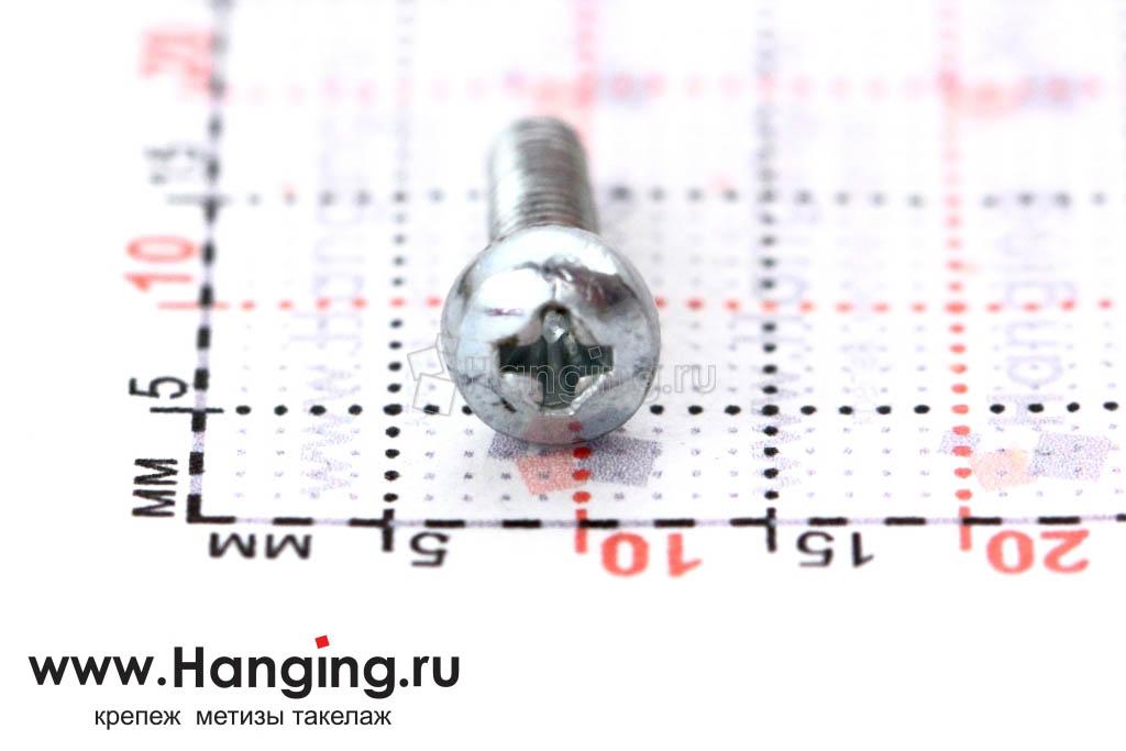 Головка винта цинк М3х10 с полусферической головкой