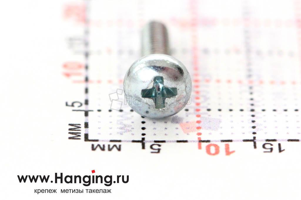 Головка винта цинк М3х12 с полусферической головкой