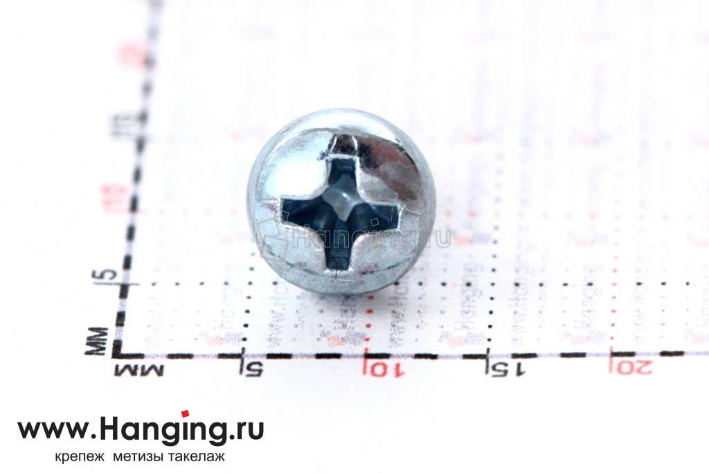 Головка винта цинк М4х5 с полусферической головкой