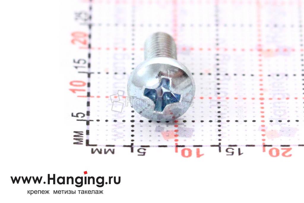 Головка винта цинк М4х12 с полусферической головкой