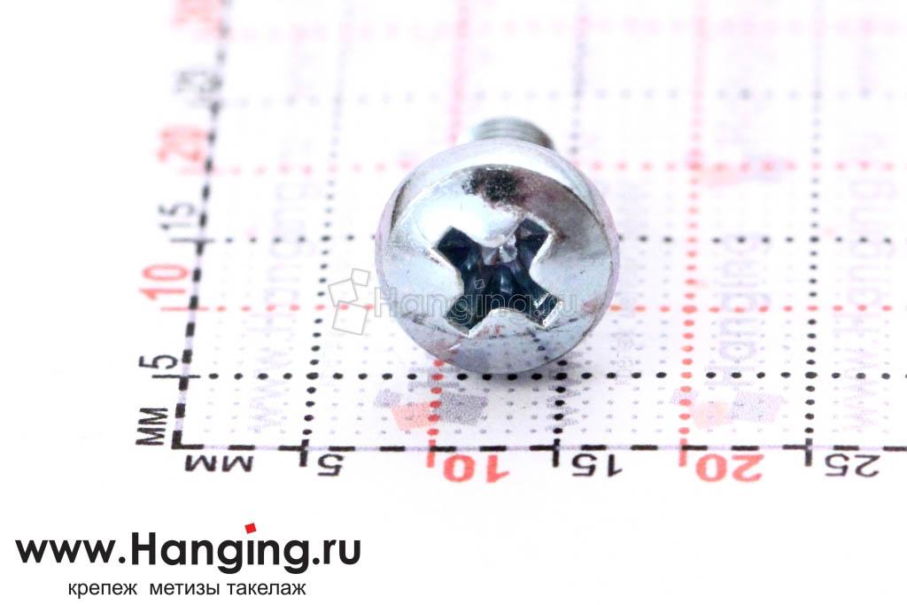 Головка винта цинк М5х10 с полусферической головкой