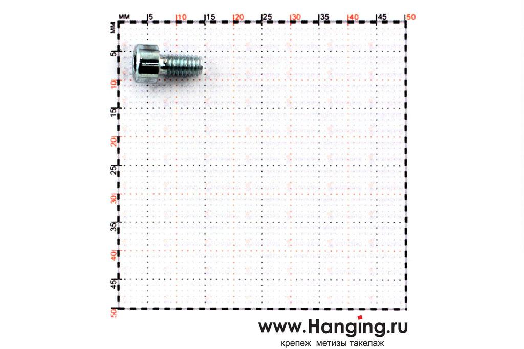 Размеры болтов М4х8 оцинкованных с шестигранником класса прочности 8.8 DIN 912