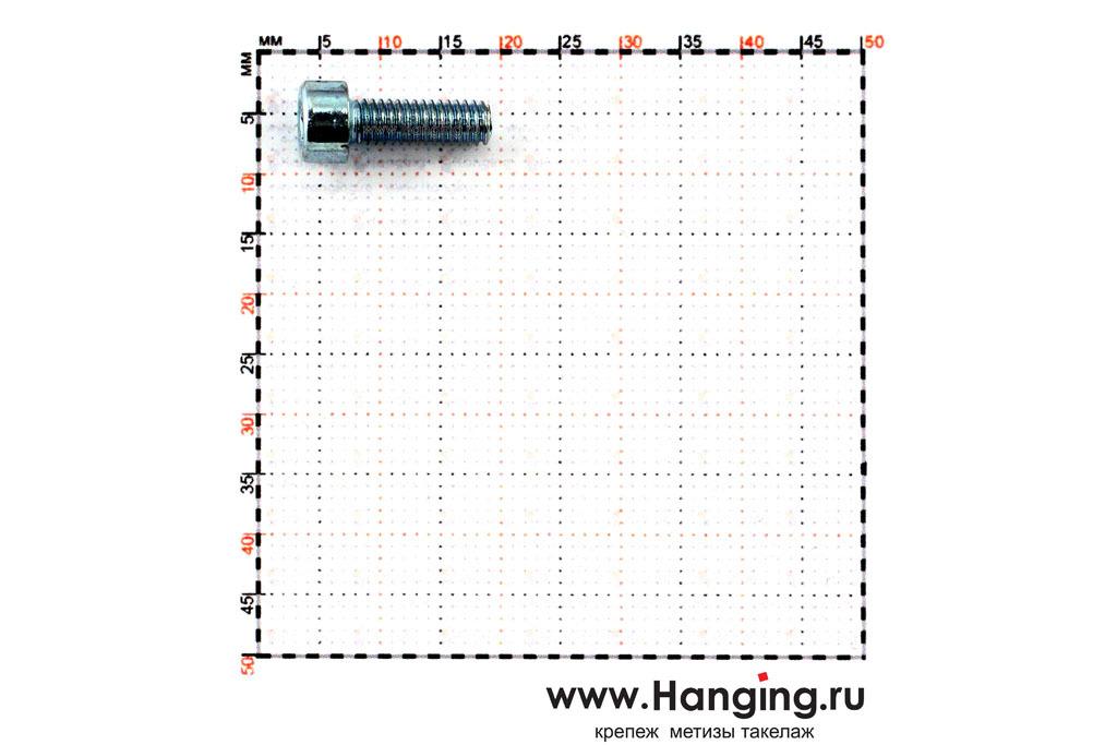 Размеры болтов М4х12 оцинкованных с шестигранником класса прочности 8.8 DIN 912