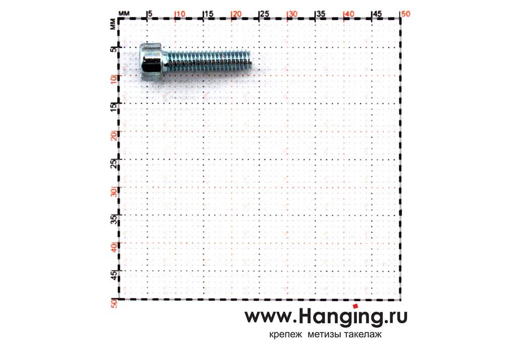 Размеры болтов М4х16 оцинкованных с шестигранником класса прочности 8.8 DIN 912