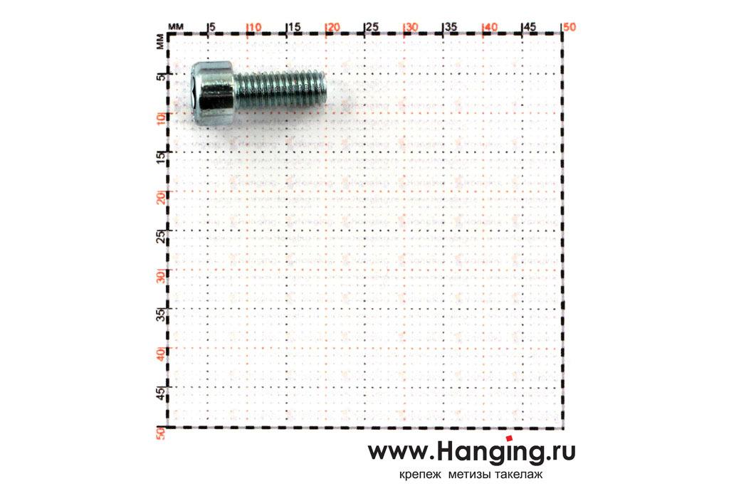 Размеры болтов М5х12 оцинкованных с шестигранником класса прочности 8.8 DIN 912