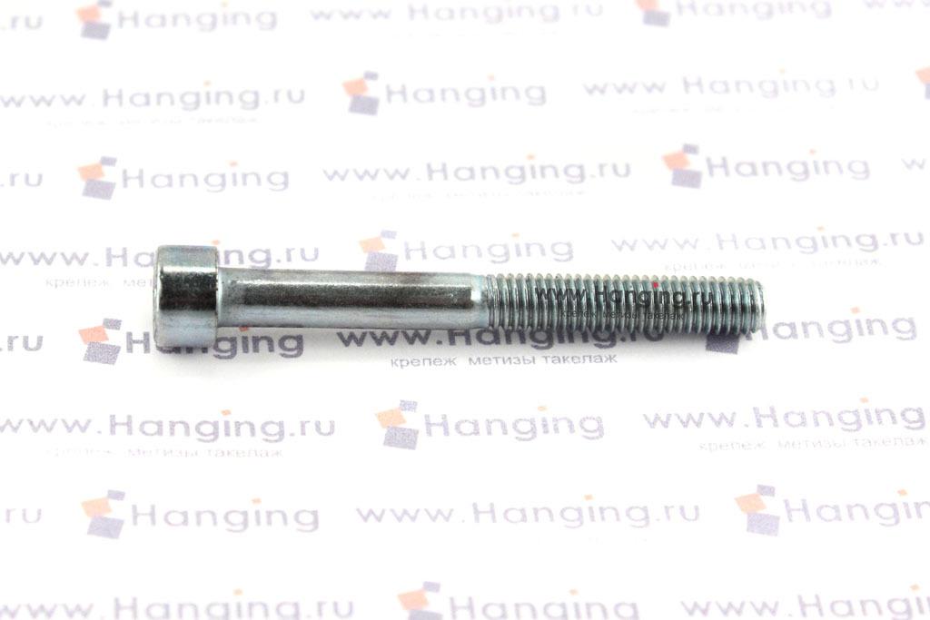 Болт М5х45 оцинкованный с шестигранником класса прочности 8.8 DIN 912