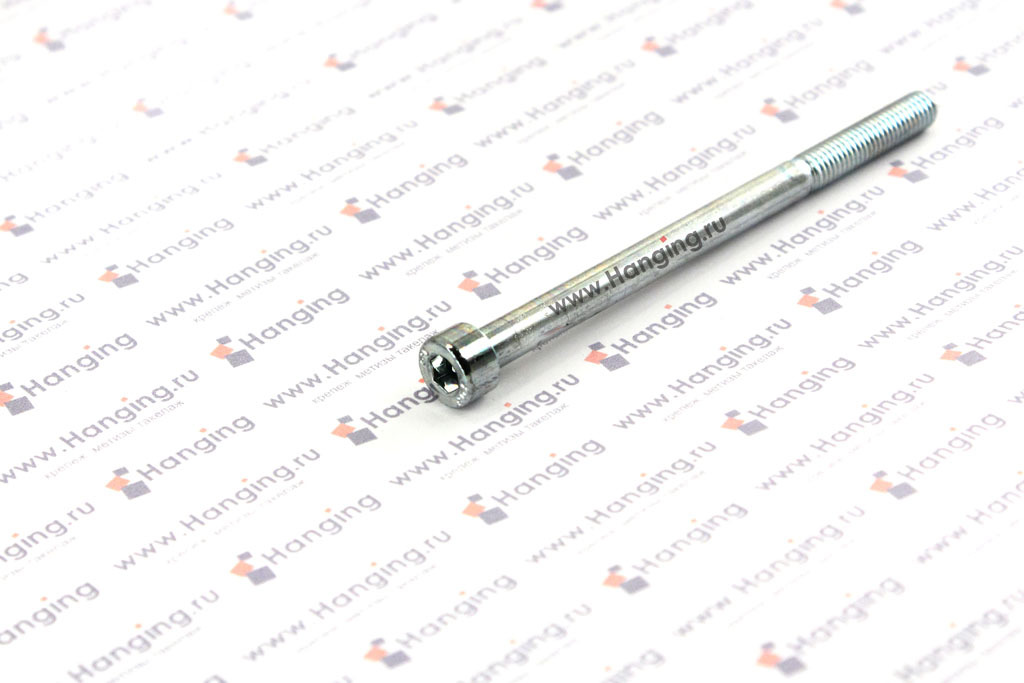 Болты М5х75 оцинкованные с шестигранником класса прочности 8.8 DIN 912