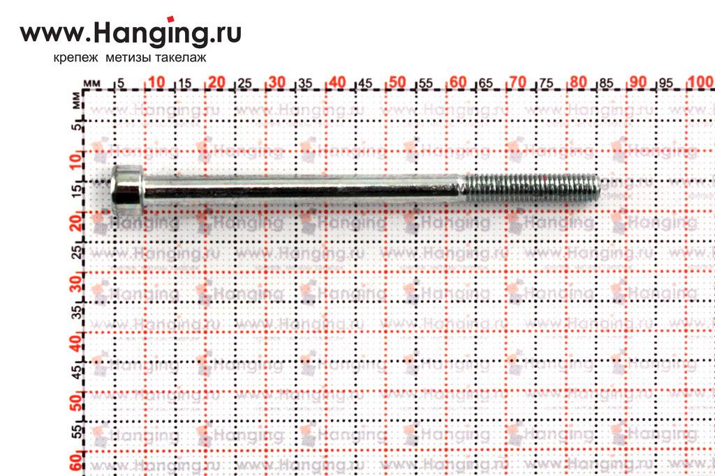 Размеры болтов М5х75 оцинкованных с шестигранником класса прочности 8.8 DIN 912