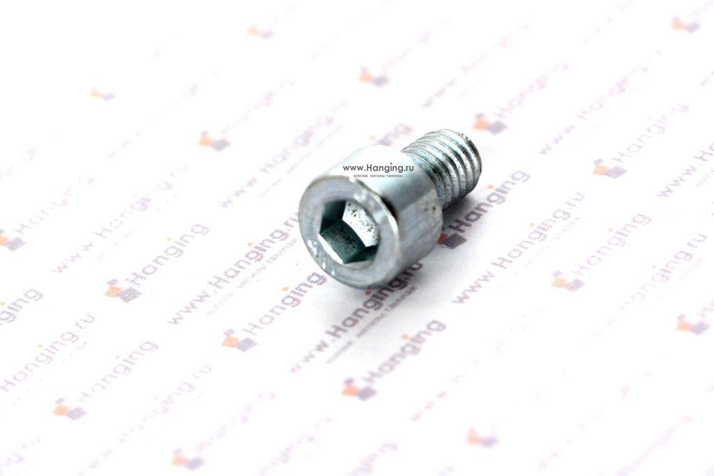 Болт М6х10 оцинкованный с шестигранником класса прочности 8.8 DIN 912