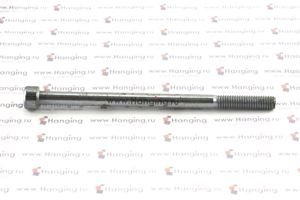 Болт М6х100 оцинкованный с шестигранником класса прочности 8.8 DIN 912