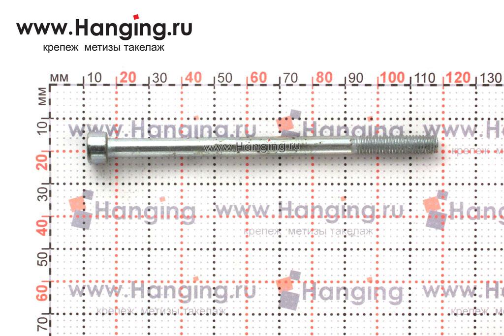 Размеры болтов М6х100 оцинкованных с шестигранником класса прочности 8.8 DIN 912