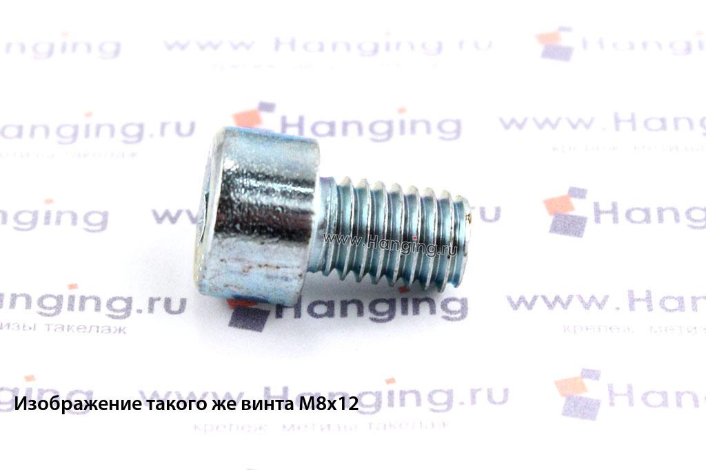 Болт М8х10 оцинкованный с шестигранником класса прочности 8.8 DIN 912