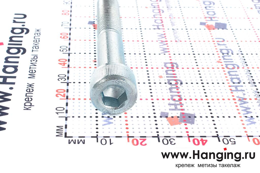 Головка болтов М10х65 оцинкованных с шестигранником класса прочности 8.8 DIN 912