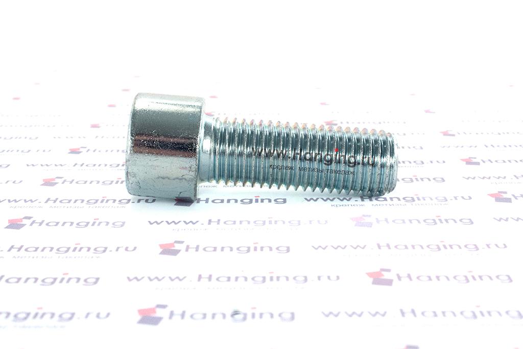 Болт М16х45 оцинкованный с шестигранником класса прочности 8.8 DIN 912