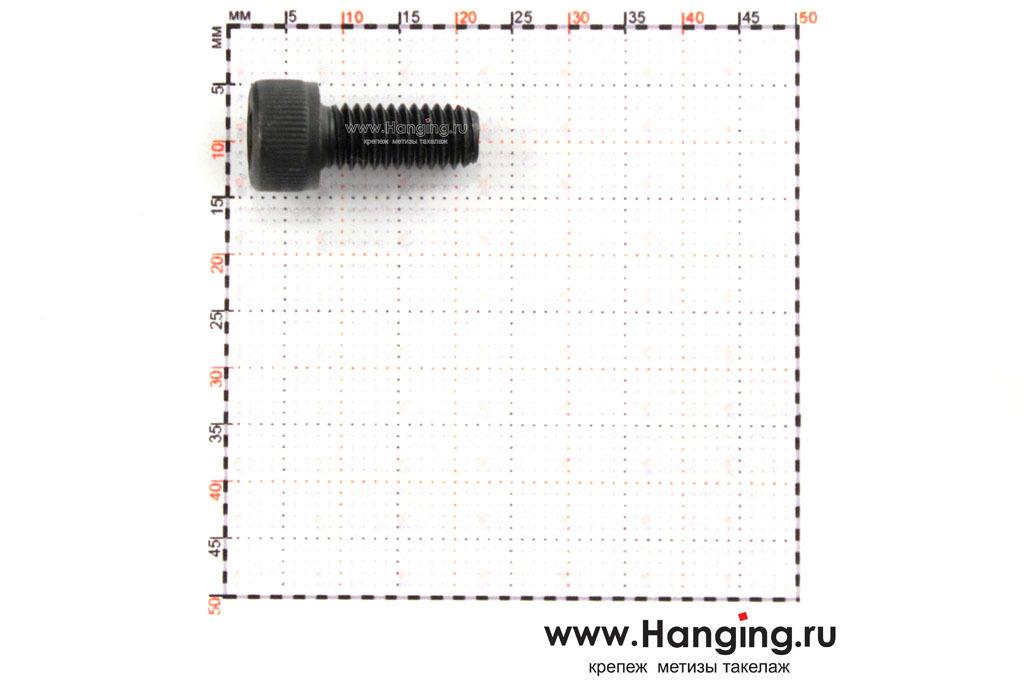 Размеры болта М6х14 с внутренним шестигранником, без покрытия, кл. пр. 10.9, DIN 912