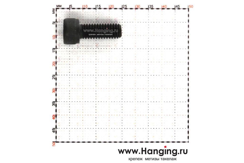 Размеры болта М6х16 с внутренним шестигранником, без покрытия, кл. пр. 10.9, DIN 912