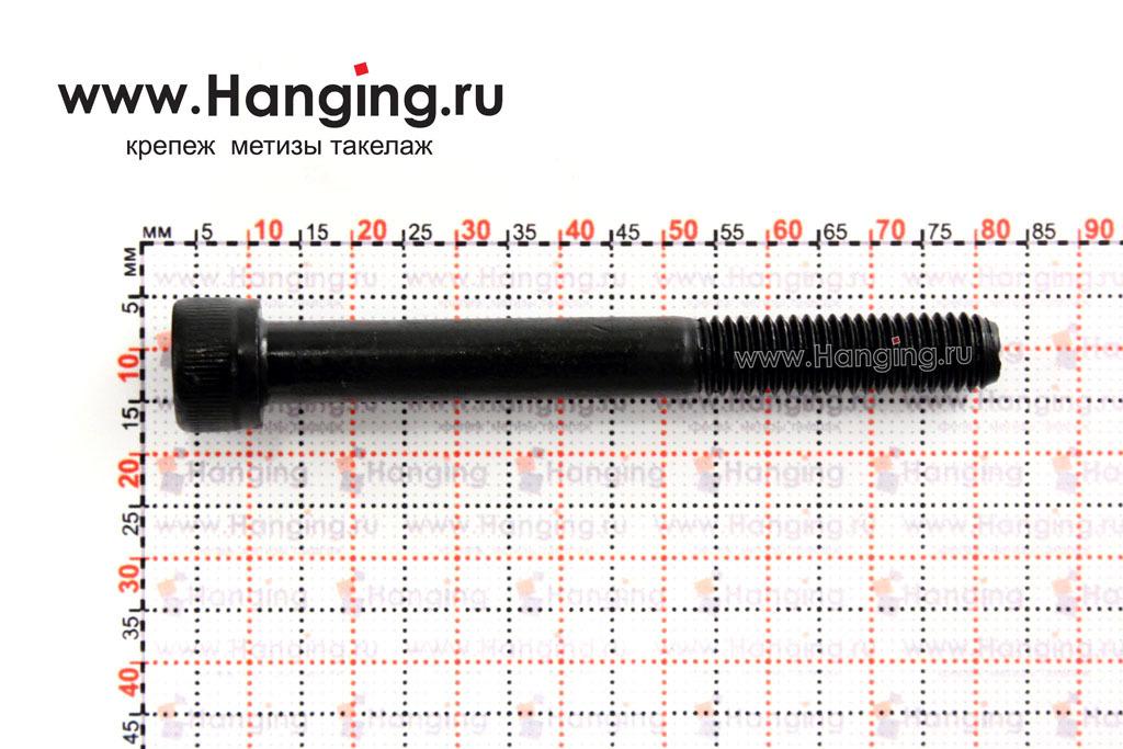 Размеры болта М8х70 с внутренним шестигранником, без покрытия, кл. пр. 10.9, DIN 912