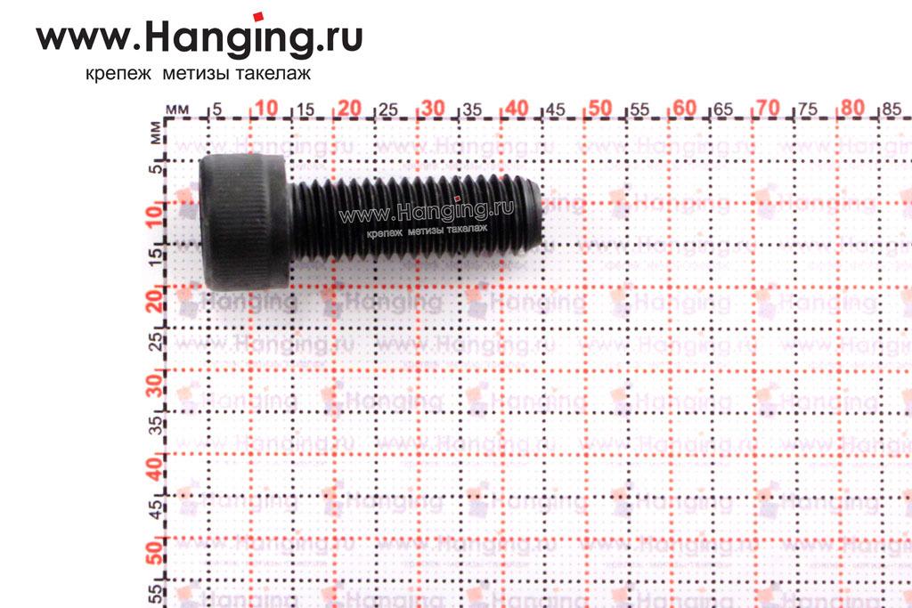 Размеры болта М10х30 с внутренним шестигранником, без покрытия, кл. пр. 10.9, DIN 912