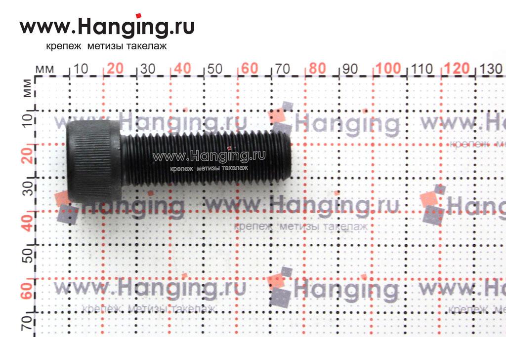 Размеры болта М16х50 с внутренним шестигранником, без покрытия, кл. пр. 10.9, DIN 912