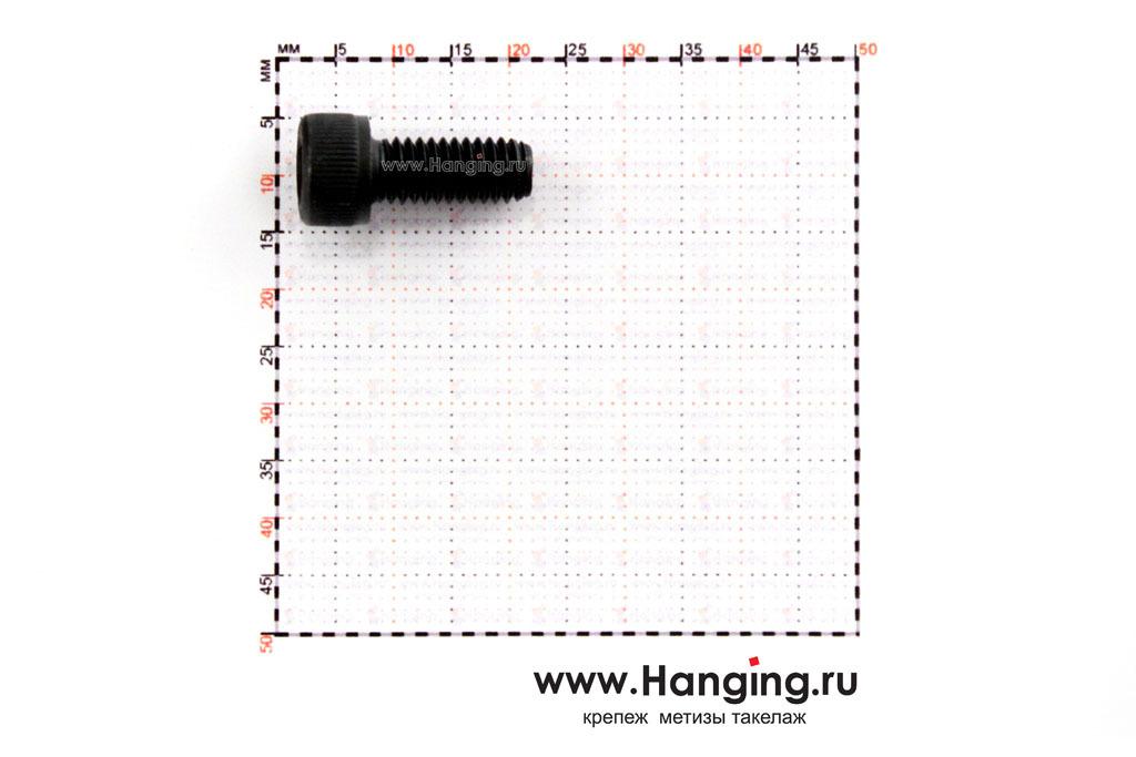 Размеры винта М6х14 с внутренним шестигранником, без покрытия, кл. пр. 12.9, DIN 912